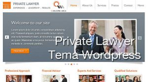 Private Lawyer. Tema WordPress