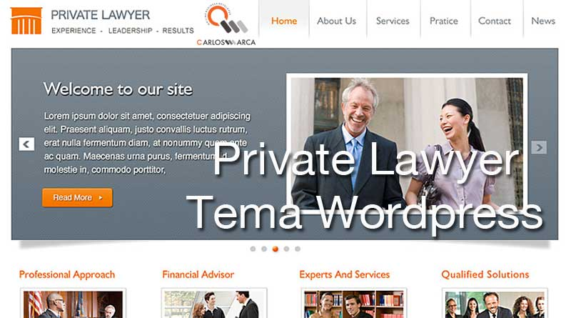 private lawyer tema wordpress