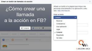 Novedad en las páginas de Facebook: Llamadas a la acción
