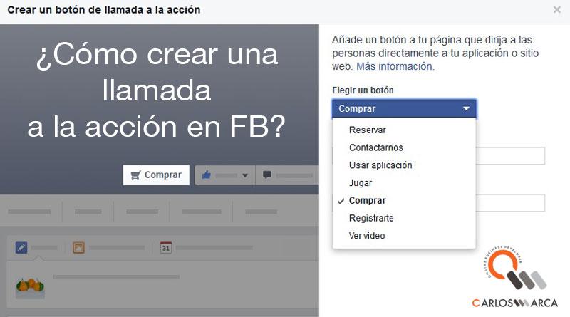 llamada a la acción en facebook carlosmarca
