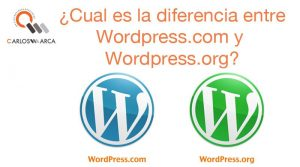 ¿Cual es la diferencia entre WordPress.com y WordPress.org?