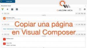 ¿Cómo copiar una página en Visual Composer sin usar un Plugin?