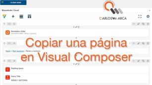 visual composer copiar una pagina wordpress barcelona carlosmarca