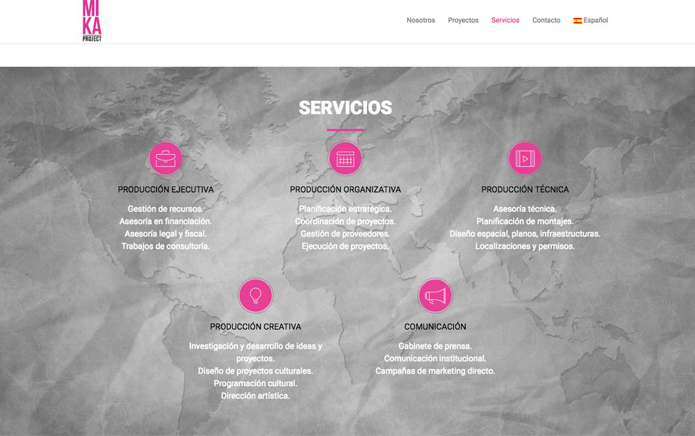 mika project web realizada por carlosmarca wordpress