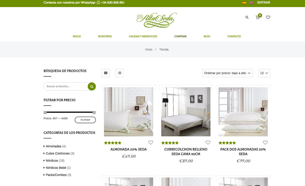 Web alta seda altaseda carlosmarca wordpress barcelona