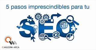 carlosmarca pasos insipensables para tu seo barcelona wordpress