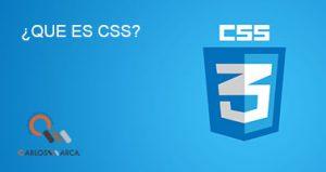 ¿Qué es CSS?