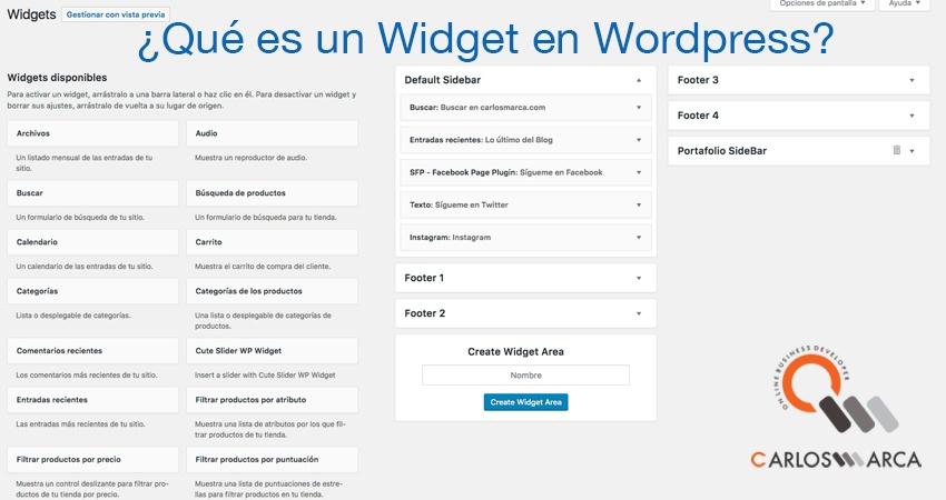 ¿Qué-es-un-Widget-en-Wordpress? carlosmarca barcelona
