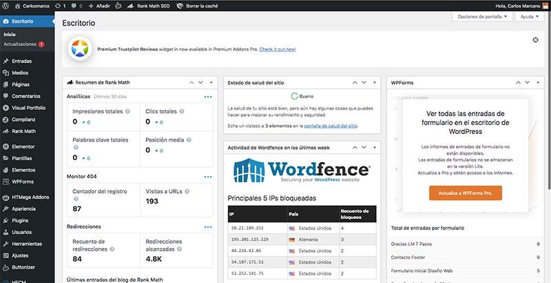 Backend-de-wordpress-area-administracion